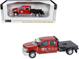 Ford F-250 Flatbed Truck J&M Red Metallic 1/64 Diecast Model Car SpecCast JMM100