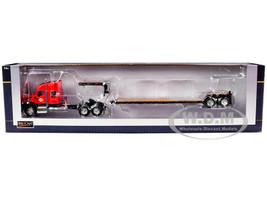 Kenworth T880 Tractor Truck J&M Red Lowboy Trailer 1/64 Diecast Model Speccast JMM102