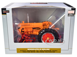 Minneapolis Moline U Gas Narrow Front Tractor 2-Row Cultivator Orange Classic Series 1/16 Diecast Model SpecCast SCT391