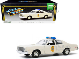 1975 Plymouth Fury Cream Mississippi Highway Patrol Smokey and the Bandit 1977 Movie 1/18 Diecast Model Car Greenlight 19083