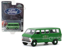 1970 Ford Club Wagon Van Green Board of Education Hobby Exclusive 1/64 Diecast Model Greenlight 30170