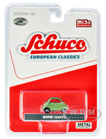 BMW Isetta Green Gray Top European Classics Limited Edition 1200 pieces Worldwide 1/64 Diecast Model Car Schuco 3800