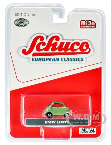 BMW Isetta Green Gray Top European Classics Limited Edition 1200 pieces Worldwide 1/64 Diecast Model Car Schuco 3800