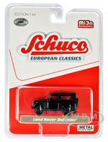 Land Rover Defender Matt Black European Classics Limited Edition 2400 pieces Worldwide 1/64 Diecast Model Car Schuco 4000