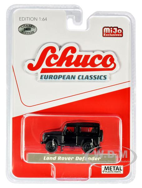 Land Rover Defender Matt Black European Classics Limited Edition 2400 pieces Worldwide 1/64 Diecast Model Car Schuco 4000
