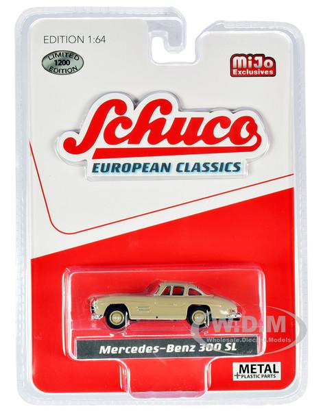 Mercedes Benz 300 SL Ivory European Classics Limited Edition 1200 pieces Worldwide 1/64 Diecast Model Car Schuco 4100