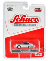 Porsche 356 Silver Red Interior European Classics Limited Edition 2400 pieces Worldwide 1/64 Diecast Model Car Schuco 4300