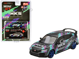 Honda Civic Type R FK8 HKS Time Attack 2018 Limited Edition 1200 pieces Worldwide 1/64 Diecast Model Car True Scale Miniatures MGT00101