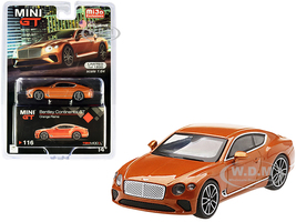 Bentley Continental GT Orange Flame Metallic Limited Edition 1200 pieces Worldwide 1/64 Diecast Model Car True Scale Miniatures MGT00116