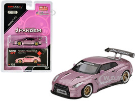 Nissan GT-R R35 Pandem GT Wing Passion Pink Metallic Limited Edition 1800 pieces Worldwide 1/64 Diecast Model Car True Scale Miniatures MGT00123