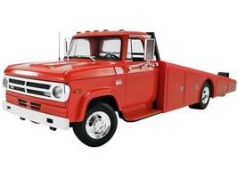1970 Dodge D-300 Ramp Truck Burnt Orange 1/18 Diecast Model Car ACME A1801900