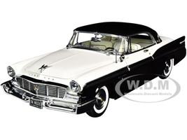 1956 Chrysler New Yorker St. Regis Cloud White Raven Black Limited Edition 402 pieces Worldwide 1/18 Diecast Model Car ACME A1809006