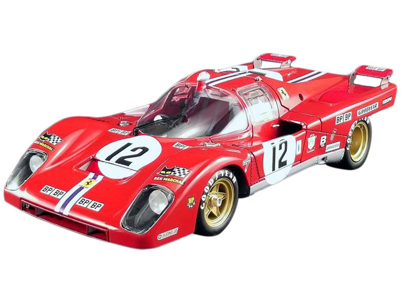Ferrari 512M #12 Sam Posey Tony Adamowicz 3rd Place 24 Hours of Le Mans 1971 Masterpiece Collection Limited Edition 624 pieces Worldwide 1/18 Diecast Model Car GMP ACME M1801002