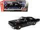 1969 Plymouth HEMI 426 RoadRunner Hardtop Tuxedo Black Hemmings Muscle Machines Magazine Cover Car August 2009 1/18 Diecast Model Car Autoworld AMM1213