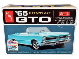 Skill 2 Model Kit 1965 Pontiac GTO 2-in-1 Kit 1/25 Scale Model AMT AMT1191 M