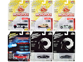 Pop Culture 2020 Set of 6 Cars Release 1 1/64 Diecast Model Cars Johnny Lightning JLPC001