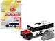 1956 Chevrolet School Bus White Black Red Hood Game Token Monopoly 85th Anniversary Pop Culture Series 1/64 Diecast Model Johnny Lightning JLPC001 JLSP092