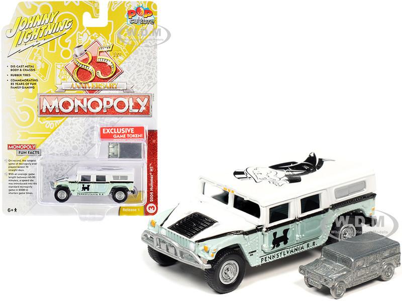 2004 Hummer H1 Game Token Monopoly 85th Anniversary Pop Culture Series 1/64 Diecast Model Car Johnny Lightning JLPC001 JLSP094