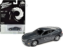 2002 Aston Martin V12 Vanquish Gray Metallic James Bond 007 Die Another Day 2002 Movie Pop Culture Series 1/64 Diecast Model Car Johnny Lightning JLPC001 JLSP096
