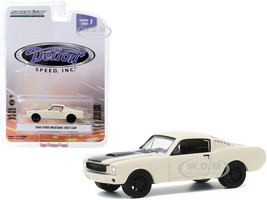 1966 Ford Mustang Fastback Test Car Cream Black Stripe Detroit Speed Inc Series 1 1/64 Diecast Model Car Greenlight 39040 A