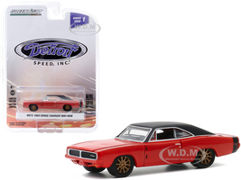 1969 Dodge Charger May/Hem Mo's Red Black Top Copper Wheels Detroit Speed Inc Series 1 1/64 Diecast Model Car Greenlight 39040 C