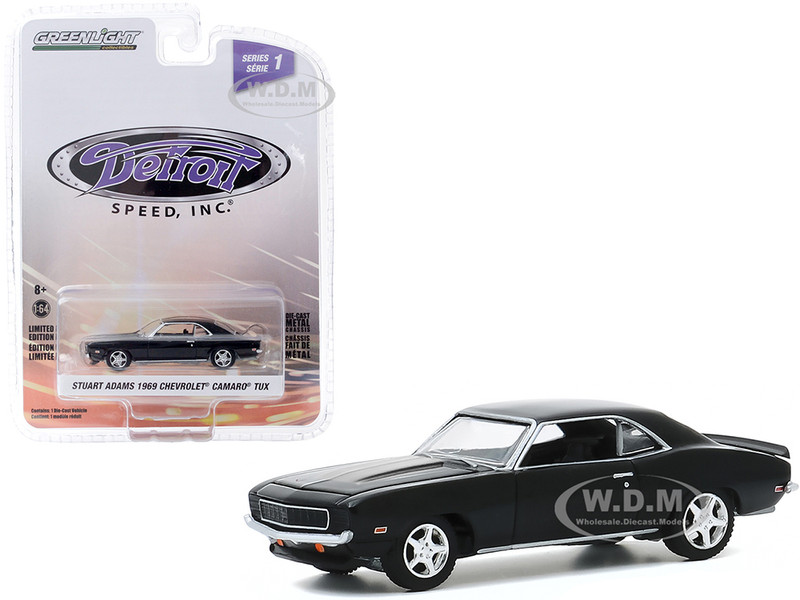 1969 Chevrolet Camaro TUX Stuart Adams' Black Detroit Speed Inc Series 1 1/64 Diecast Model Car Greenlight 39040 D