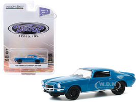 1970 Chevrolet Camaro Test Car Blue Black Wheels Detroit Speed Inc Series 1 1/64 Diecast Model Car Greenlight 39040 E