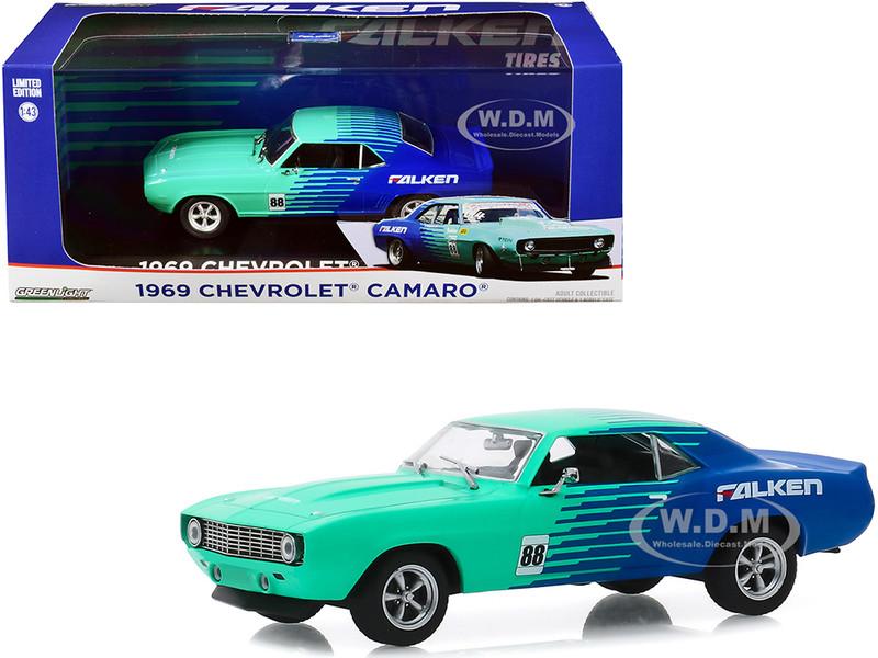 1969 Chevrolet Camaro #88 Falken Tires 1/43 Diecast Model Car Greenlight 86343