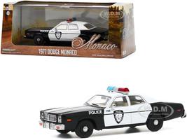 1977 Dodge Monaco White Black Police Department City of Roseville 1/43 Diecast Model Car Greenlight 86588