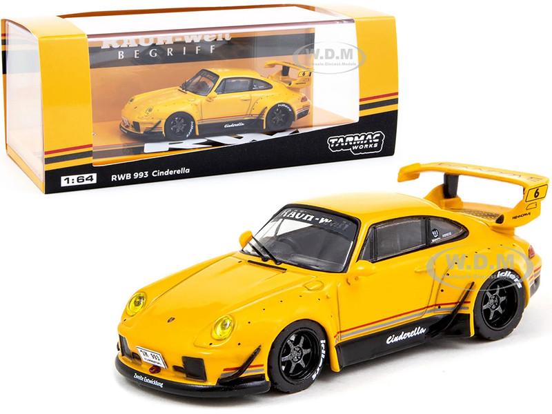 Porsche RWB 993 Cinderella #6 Yellow Thailand Exclusive RAUH-Welt BEGRIFF 1/64 Diecast Model Car Tarmac Works T64-017-CA