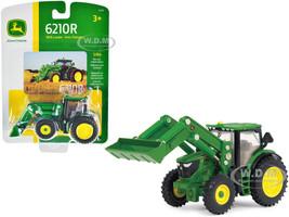 John Deere 6210R Tractor Loader 1/64 Diecast Model ERTL TOMY 45378