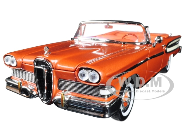1958 Edsel Citation Convertible Brown 1/18 Diecast Model Car Road Signature 92298
