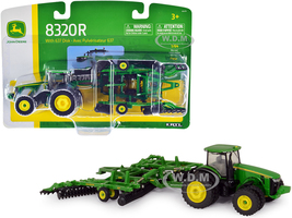 John Deere 8320R Tractor John Deere 637 Disc Harrow Folding Wings 1/64 Diecast Models ERTL TOMY 45479