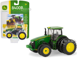 John Deere 8400R Tractor Triple Rear Wheels 1/64 Diecast Model ERTL TOMY 45569
