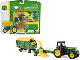 John Deere 4960 Tractor Forage Harvester Wagon 1/64 Diecast Models ERTL TOMY 45589