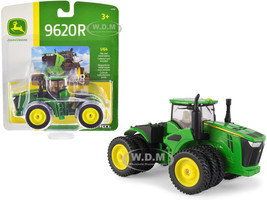 John Deere 9620R Tractor Triple Front Rear Wheels 1/64 Diecast Model ERTL TOMY 45700