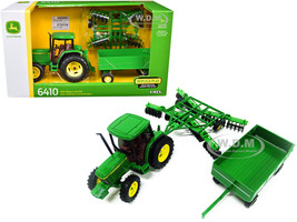 John Deere 6410 Tractor Barge Wagon Disc Harrow Folding Wings 1/32 Diecast Models ERTL TOMY 15489