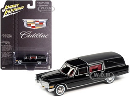 1966 Cadillac Hearse Black Special Edition Limited Edition 3000 pieces Worldwide 1/64 Diecast Model Car Johnny Lightning JLSP089