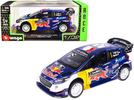 2017 Ford Fiesta M-Sport WRC #1 Sebastien Ogier Julien Ingrassia Red Bull Race Car Series 1/32 Diecast Model Car Bburago 41051