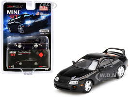 Toyota Supra JZA80 Black Limited Edition 1200 pieces Worldwide 1/64 Diecast Model Car True Scale Miniatures MGT00045