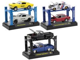 Auto Lift Set of 6 pieces Release 18 1/64 Diecast Model Cars M2 Machines 33000-18