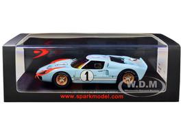 Ford Mk II #1 Ken Miles Denny Hulme 2nd Place 24 Hours of Le Mans 1966 1/43 Model Car Spark S4075