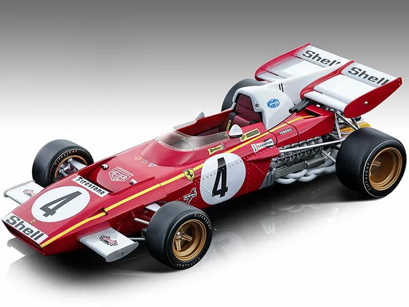 Ferrari 312 B2 #4 Jacky Ickx Formula One F1 Monaco GP 1971 Mythos Series Limited Edition 155 pieces Worldwide 1/18 Model Car Tecnomodel TM18-121 B