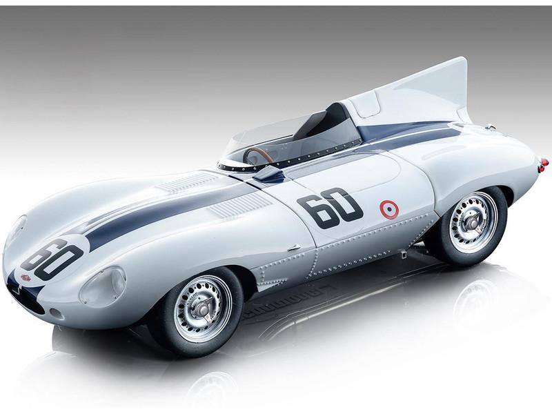 Jaguar D-Type #60 Sherwood Johnston Winner Grand Prix of Watkins Glen 1955 Mythos Series Limited Edition 105 pieces Worldwide 1/18 Model Car Tecnomodel TM18-157 B