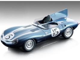 Jaguar D-Type #15 John Lawrence Ninian Sanderson 2nd Place 24 Hours of Le Mans 1957 Mythos Series Limited Edition 125 pieces Worldwide 1/18 Model Car Tecnomodel TM18-157 C