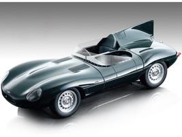 1957 Jaguar D-Type British Racing Green Press Version Mythos Series Limited Edition 80 pieces Worldwide 1/18 Model Car Tecnomodel TM18-157 D