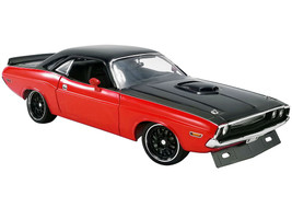 1970 Dodge Challenger R/T Street Fighter Red Black Limited Edition 576 pieces Worldwide 1/18 Diecast Model Car ACME A1806014