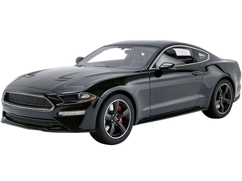 2019 Ford Mustang Bullitt Shadow Black 1/18 Model Car GT Spirit ACME US017 B