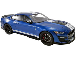 2020 Ford Mustang Shelby GT500 Ford Performance Blue White Stripes 1/12 Model Car GT Spirit ACME US023