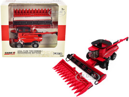 Case IH 7250 Axial-Flow Combine Folding Auger 12-Row Corn Head Draper Grain Head Case IH Agriculture 1/64 Diecast Model ERTL TOMY 44166